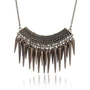 Jewelry - Bronze Bohemian Spike Statement Necklace